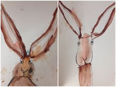 Water Color Value Study from the bees knees cousin.  Using Catherin Raynor's rabbit illustrations in the classroom