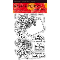 Power Poppy MY ENGLISH ROSE Clear Stamp Set PPFEB1601