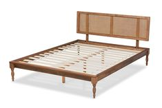 Shop Baxton Studio Romy Ash Walnut Wood Synthetic Rattan Wood Synthetic Rattan Queen Platform Bed with great price, The Classy Home Furniture has the best selection of Beds to choose from Queen Size Platform Bed, Full Platform Bed, Wooden Bed Frames, Contemporary Chairs, Living Room Shop, Baxton Studio, Walnut Wood, French Vintage, Rattan