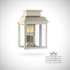 Westminster brass wall lantern - polished nickel - Outdoor Wall Lights