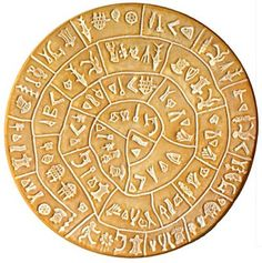 The Phaistos disc is a mysterious artifact found in the Minoan ruins. Archeologists are not sure what its purpose was.