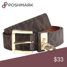 MICHAEL KORS LOGO BELT REVERSIBLE HAMILTON LOCK IT WAS STORE  DISPLAY.WITHOUT TAG.THE 02bd719a9ae4