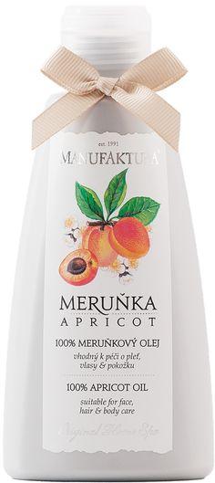 Meruňka : 100% meruňkový olej lisovaný za studena k péči o pleť, vlasy a pokožku