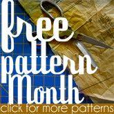 free sewing patterns : )