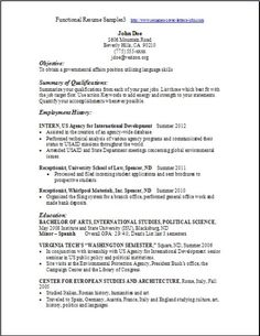 functional resume template free httpwwwresumecareerinfofunctional - Free Functional Resume Templates