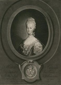 Marie Antoinette, Dauphine de France, Archiduchesse d'Autriche