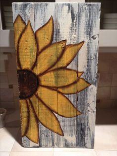 welcome sunflower pallet | 'stache studio