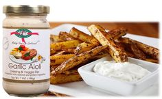 Garlic Survival Sweet Potato Oven Fries with Garlic Aioli