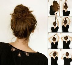 15 simple tricks to comb your hair in less than 5 minutes! Elegant Hairstyles, Messy Hairstyles, Updo Hairstyle, Wedding Hairstyles, Quinceanera Hairstyles, Casual Hairstyles, Celebrity Hairstyles, Bridal Hair Updo, Wedding Updo