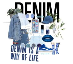 """""""Denim on denim"""" by titavaniaa ❤ liked on Polyvore featuring Acne Studios, Kate Spade, Marc Jacobs, Pier 1 Imports, Y/Project, JINsoon, Vans, Madewell, Zero Gravity and Terre Mère"""