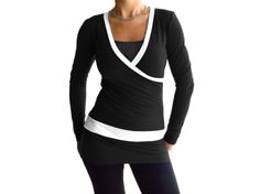Soft Black and white Furry inside soft Lycra tunic by AncyShop, $65.00