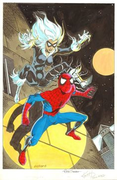 Amazing Spider-Man #194 Rejected Cover Recreation by Keith Pollard Comic Art