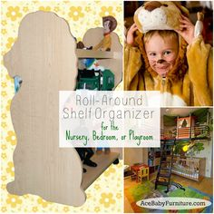 #baby nursery ideas#neutral#baby boy#baby girl#lion themed#rolling bookcase#double sided bookcase   http://www.acebabyfurniture.com/