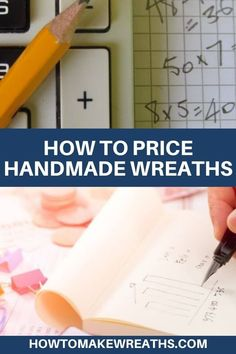 Here's a guide to help you come up with wreath prices and show you how to properly price your homemade wreaths so you can make a profit. Wreath Crafts, Diy Wreath, Diy Crafts, Wreath Ideas, Homemade Wreaths, Creative Business, Business Ideas, Wreath Making, Diy Bow