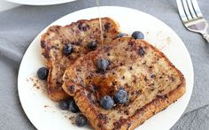 <p>This healthy blueberry banana French toast is soft, moist, and delicious! </p>