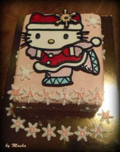 hello Kitty cake - winter