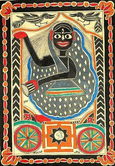 Mahavidya Goddess Dhumavati with crows