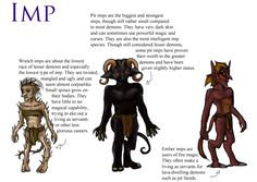 Demon species - Imp by Demireius.deviantart.com on @DeviantArt