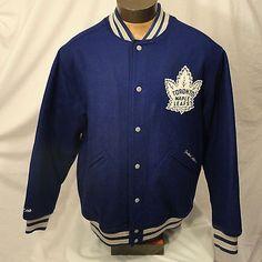 CCM-Toronto-Maple-Leafs-Letterman-Varsity-NHL-Jacket-Coat-Vintage-Hockey-Mens-L