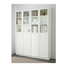 IKEA - BILLY / OXBERG, Regał, biały,
