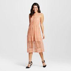 fd0bf3d603 Women s Lace Midi Dress Blush - Xhilaration™ (Juniors ) Women s A Line  Dresses