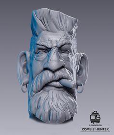 2nd Runner-up in The Best 3D Printable Model Category: Zombie Hunter by Ola Sundberg