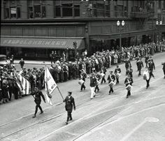 The 'Goin' to Town Parade' with Herpolsheimer's in the background - 1935
