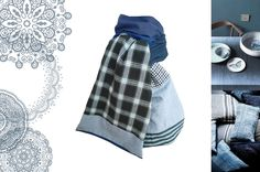 Echarpe femme homme bleu : Echarpe, foulard, cravate par lefil