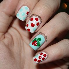 christmas by armstrongamber. Since I didn't do my nails for Thanksgiving.
