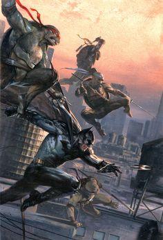 """Batman/teenage mutant ninja Turtles """"bulletproof"""" variant cover #1 by gabrieledellotto"""