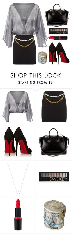 """""""The Bad Teacher ; Cameron Diaz"""" by zzeelleestyles ❤ liked on Polyvore featuring Christian Louboutin, Givenchy, Tiffany & Co. and Forever 21"""