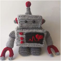 Make this adorable Robot Amigurumi Plush with the free pattern designed by my contributor, Madi Paris!