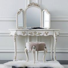 【家財便Eランク】Y-KAGUオリジナル Raffine-ラフィネシリーズ-三面鏡ドレッサー(ミラー付き)