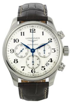 Longines Watch Master Collection Mens #bezel-fixed #bracelet-strap-alligator #brand-longines #buckle-type-deployment #case-depth-14-5mm #case-material-steel #case-width-44mm #chronograph-yes #date-yes #delivery-timescale-1-2-weeks #dial-colour-silver #gender-mens #luxury #movement-automatic #official-stockist-for-longines-watches #packaging-longines-watch-packaging #sku-lng-505 #subcat-master-collection #supplier-model-no-l2-693-4-78-3 #warranty-longines-official-2-year-guarantee…