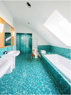 trkis dekoration badezimmer - Moderne Badezimmer Trkis