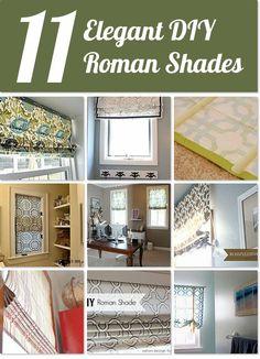 Hometalk | 11 elegant DIY roman shades