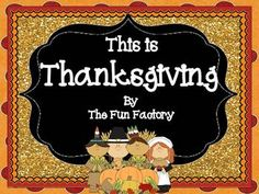 Thanksgiving - This is Thanksgiving 1st and 2nd grade Fact/Not Fact Vocabulary Lap Book/ Student Reader Classbook Cover and Template for Student Pages By The Fun Factory