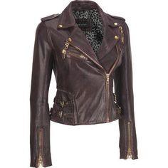 <ul><li>Shell: Genuine leather</li><li>Lining: 100% polyester</li><li>Asymmetrical-zip front; notch collar with large metal snaps</li><li>Zippered cuffs printed lining</li><li>Two small zippered pockets on right chest</li><li>Adjustable double belts at sides; zippered vent on left chest; shoulder epaulets with snaps</li><li>Send to professional leather cleaner only</li><li>Made in Pakistan</li></ul>