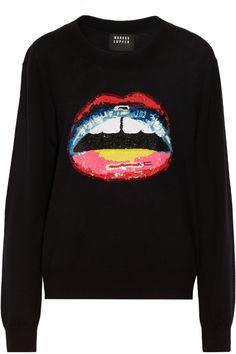 MARKUS LUPFER Joey Sequined Merino Wool Sweater. #markuslupfer #cloth #sweater
