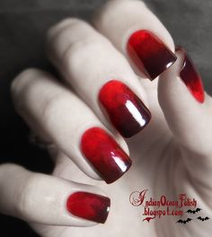 Indian Ocean Polish: A Few Halloween Nail Art Ideas for 2013. Bloody Gradient