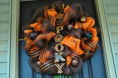 Halloween Wreath, Spider Wreath.