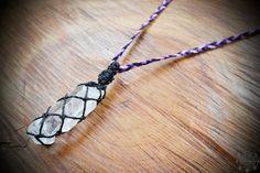 Clear Quartz crystal macrame necklace crystal jewellery | Etsy Quartz Crystal Necklace, Healing Crystal Jewelry, Clear Quartz Crystal, Gemstone Necklace, Crystal Beads, Crystals, Macrame Necklace, Jewellery, Etsy