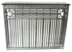 rench Art Deco Iron Radiator Cover or Console Table Circa late . Home Radiators, 1930s House, Radiator Cover, Wrought Iron, Cover Art, Granite, Home Appliances, Console Table, House Design