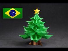 Origami: Árvore de Natal - Tutorial com voz PT BR - YouTube                                                                                                                                                     Mais