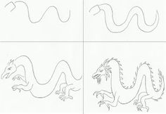 dragon draw, chines dragon, how to draw a dragon
