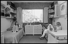 Although this is a photo from the 70's, it is identical to Maddie and Lilly's room!