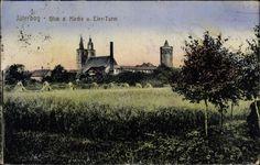 Ansichtskarte / Postkarte Jüterbog im Kreis Teltow Fläming, Blick auf die Kirche und ... | akpool.de