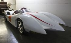 "One of the most famous race cars in the world, the Mach 5 had a starring role in the animated TV series and 2008 movie ""Speed Racer."" After this model was hand-built in 1999, Speed Racer Motors announced plans for a series of 100 road-ready replicas based on front-engine Corvette platforms, but few were actually made. The museum acquired this one at auction in 2000. ""This car is sure to bring back childhood memories for those who watched the show, as well as pique the curiosity of younger…"
