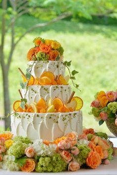 ウェディングケーキ オレンジ - Yahoo!検索(画像)