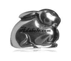 This beautiful cute bunny .925 Sterling Silver European charm fits Pandora, Biagi Trollbeads, Chamilia, and most charm bracelets find out more at adabele.com